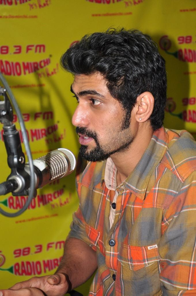 Rana Talking Still At Radio Mirchi For KVJ Promotion