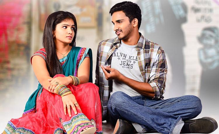 Geethanandh And Hasini Cool Still From Telisi Teliyaka Movie
