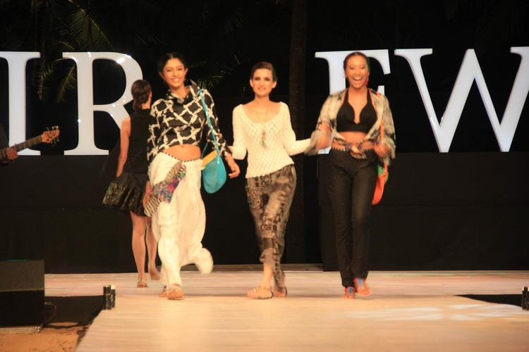 Models Look Gorgeous In Gogee Vasant Dress At India Resort Fashion Week 2012