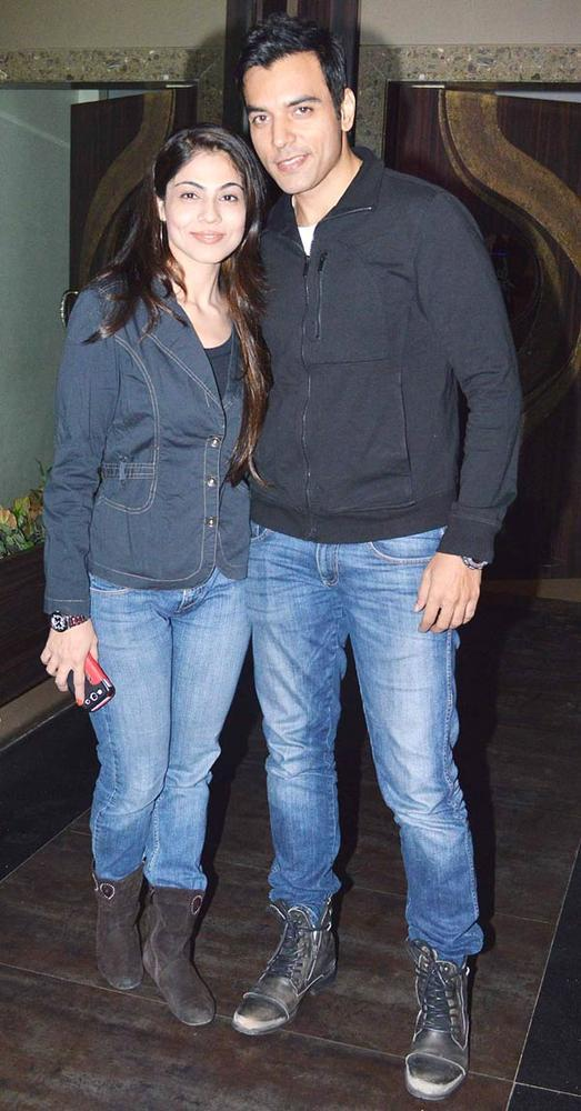 Chaitanya With A Guest Posed For Camera At Pragati Mehra Birthday Bash