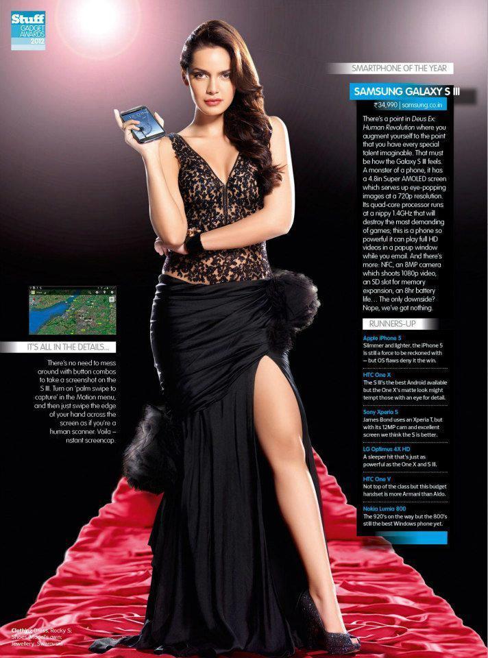 Shazahn Elegant Look Still With A Digi Cam For Stuff India December 2012
