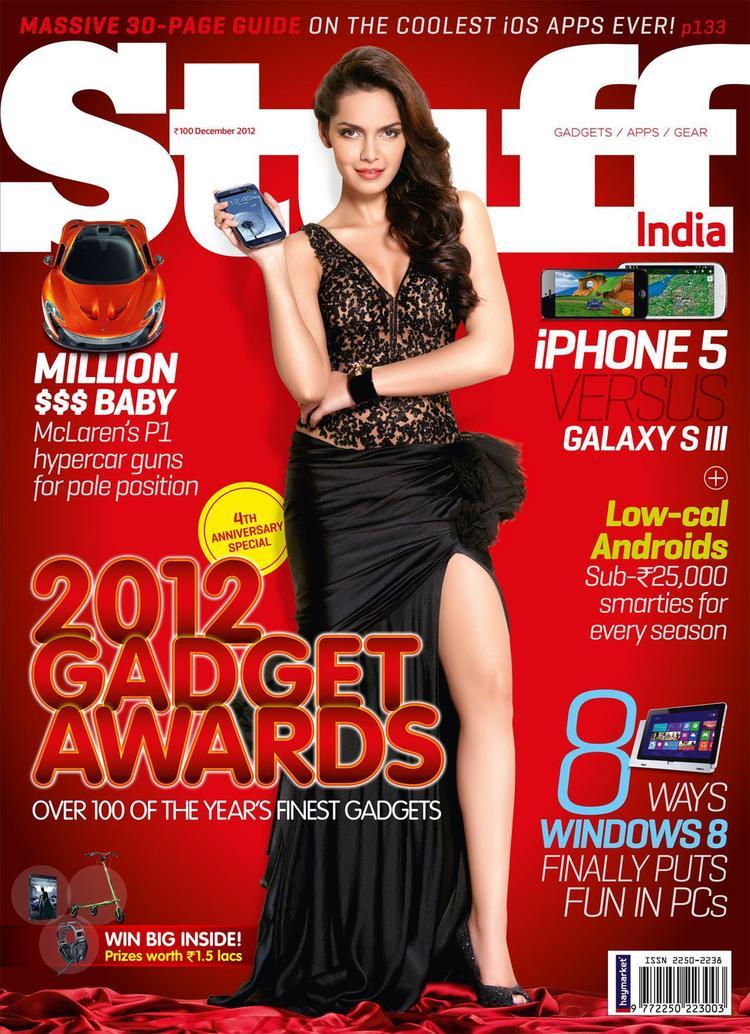 Shazahn Padamsee On The Cover Of Stuff India December 2012