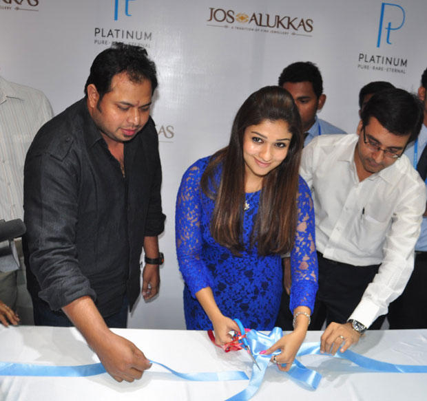 Nayanthara Launches Jos Alukkas Platinum Jewellery Collection