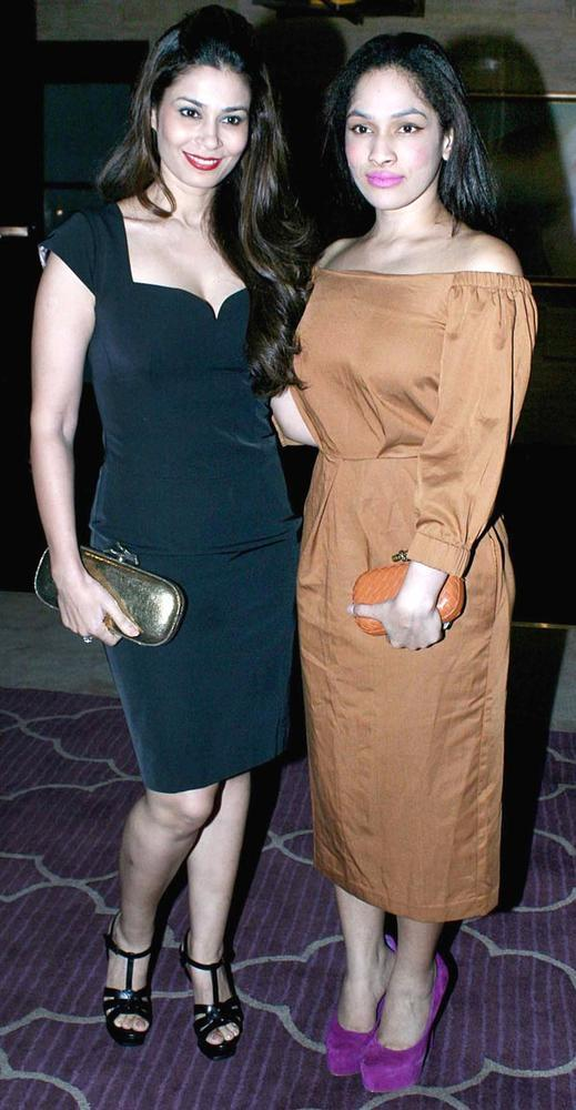 Shaheen And Masaba Smiling Photo Clicked At The Harper's Bazaar Bash