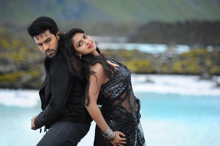 Ram Charan And Amala Latest Still From Nayak Movie