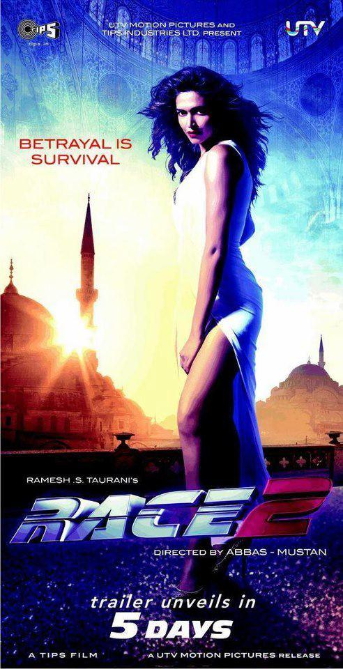 Deepika Sexy Pose Wallpaper Of Movie Race 2