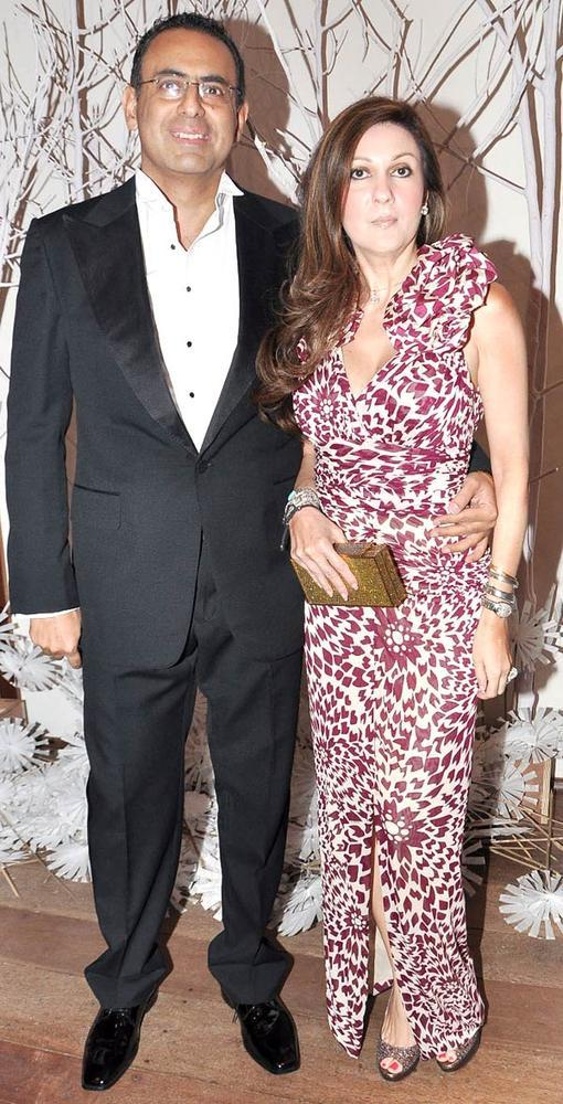 Laila With Hubby Ricky Smiling Pose At Ensemble Silver Jubilee Bash