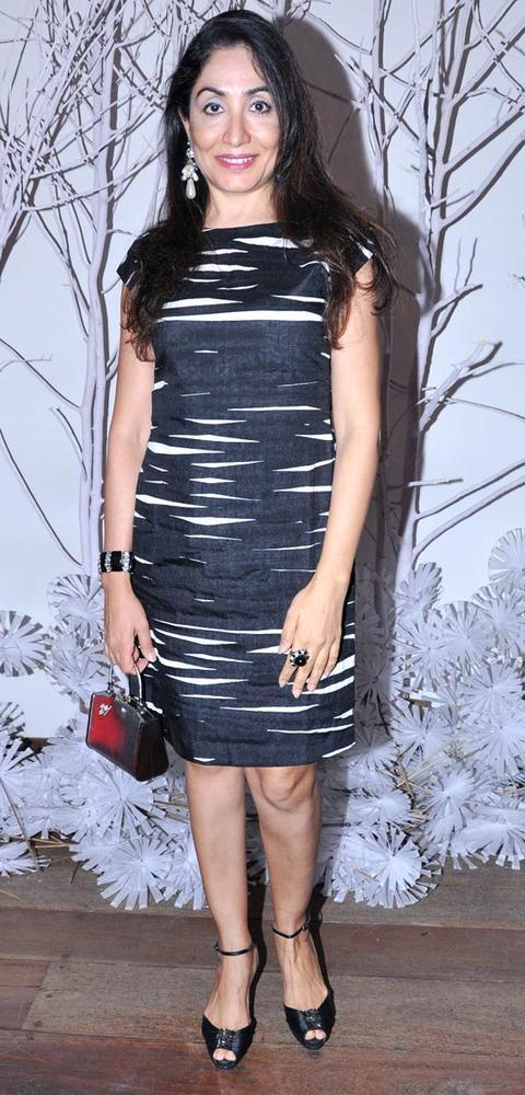 Seema Mehrotra Glamour Look Posed At Ensemble Silver Jubilee Bash