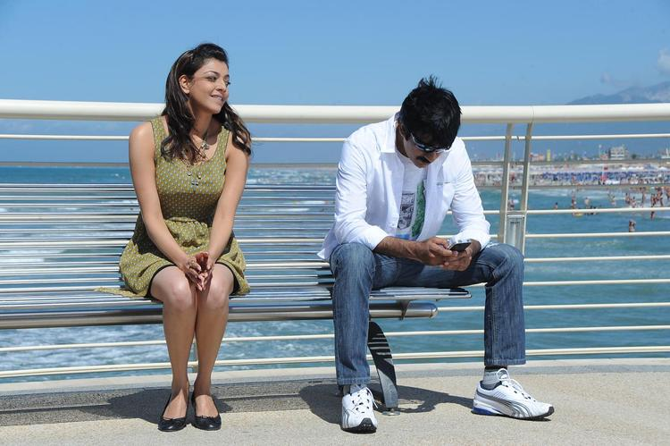 Ravi And Kajal Cool Still From Sarocharu Movie