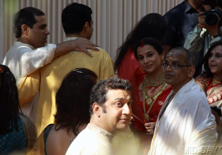 Siddharth With Vidya And P K Balan Snapped At The Wedding Ceremony