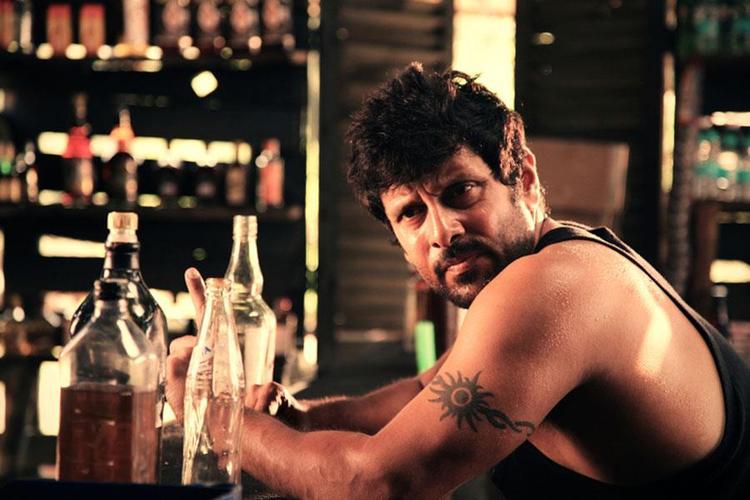 Vikram Photo In A Bear Bar From Movie David