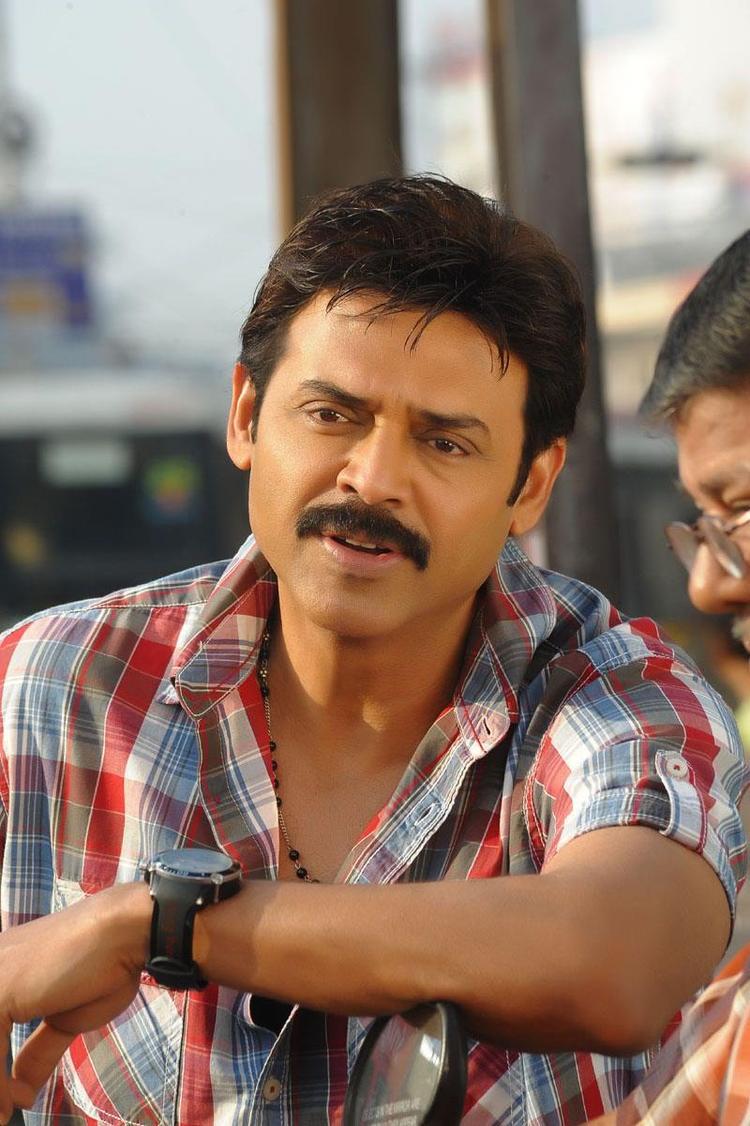 Venkatesh  Dashing Style Photo From Telugu Movie SVSC