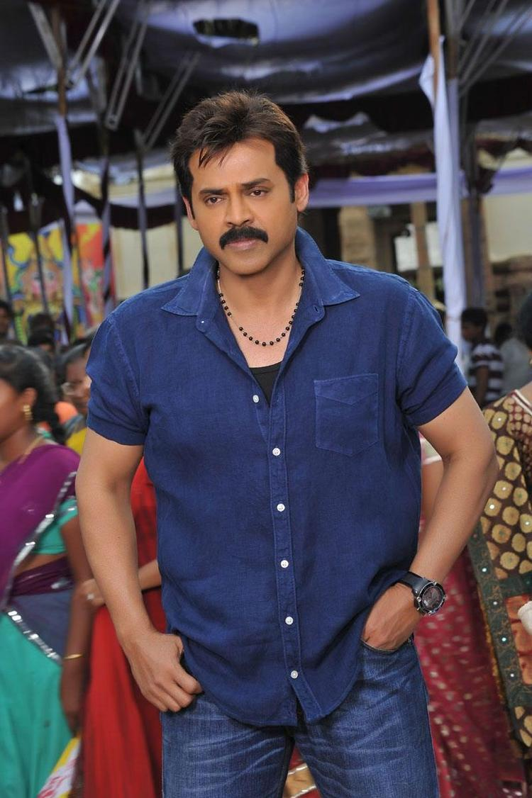 Venkatesh Stylish Look Photo From Telugu Movie SVSC