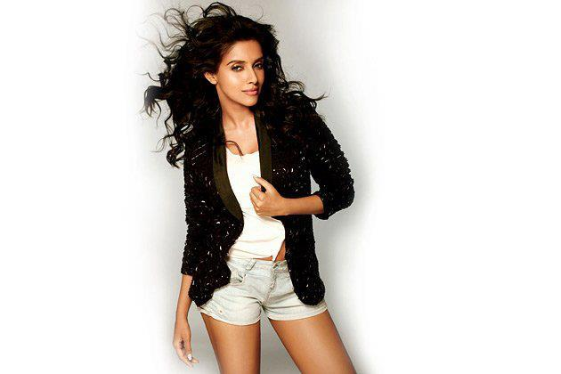 Asin Glamorous Look Photo Shoot In A Black Over Coat With Short Pant