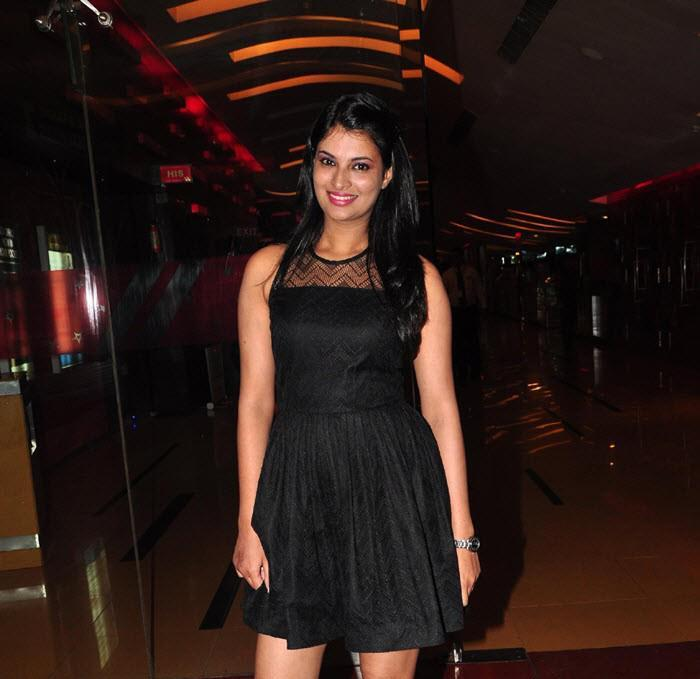Sayali Flashes A Smile At The First Look Launch Of Rajdhani Express