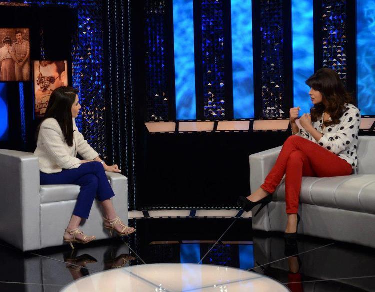 Priyanka Chopra And Anupama Chopra Discussion Still On The Front Row Show