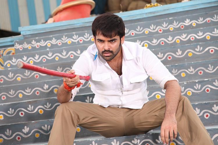 Ram Pothineni Action Pose Still From Ongole Githa Movie