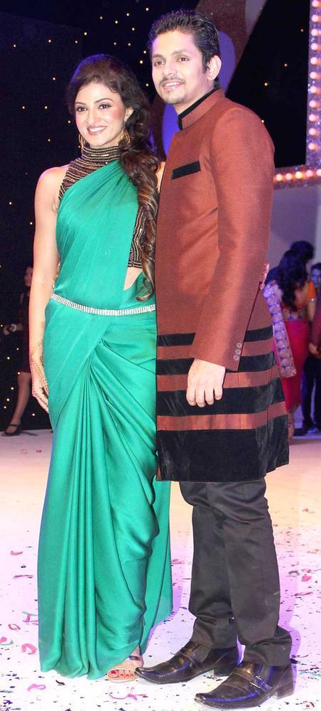 Suhasi With Her Husband Jaysheel Photo Clicked At The Launch Nach Baliye