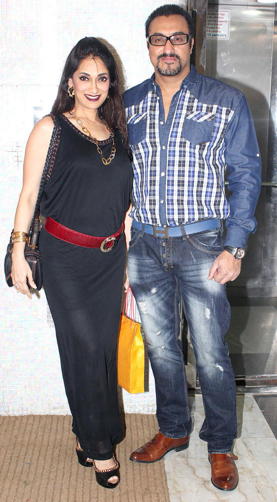 Lucky And Mohomed Posed For Camera At Karishma Tannas Birthday Bash