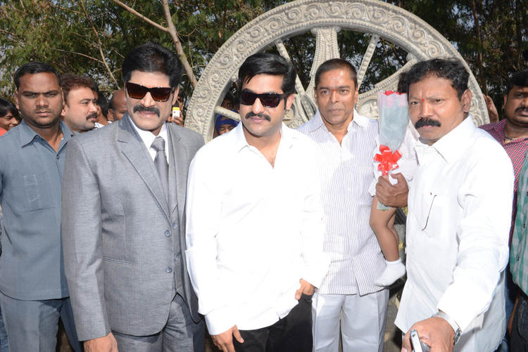 Srihari And Jr NTR Posed For Cametra At Aadi New Movie Launch Event