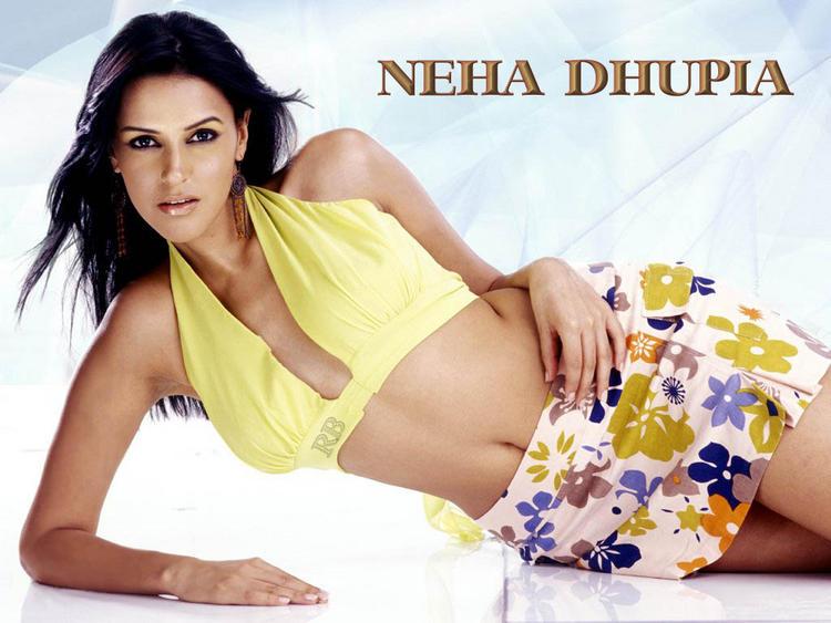 Neha Dhupia Mini Dress Spicy Wallpaper