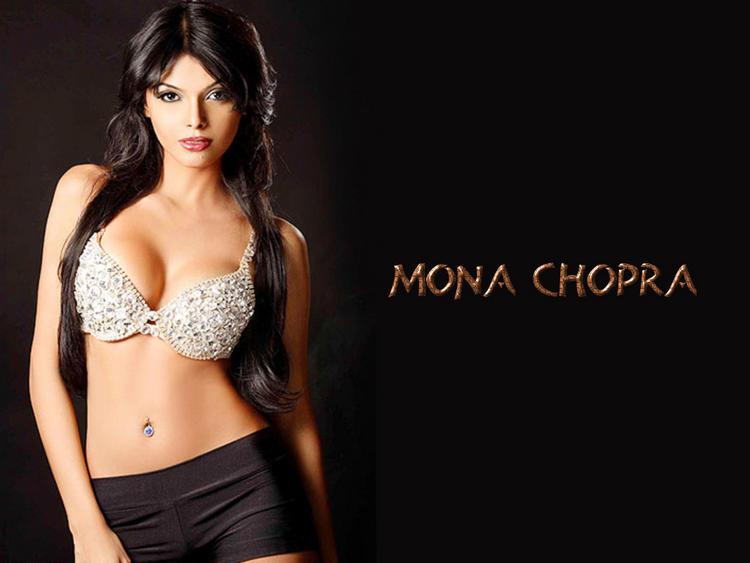 Mona Chopra Open Boob and Sexy Navel Wallpaper