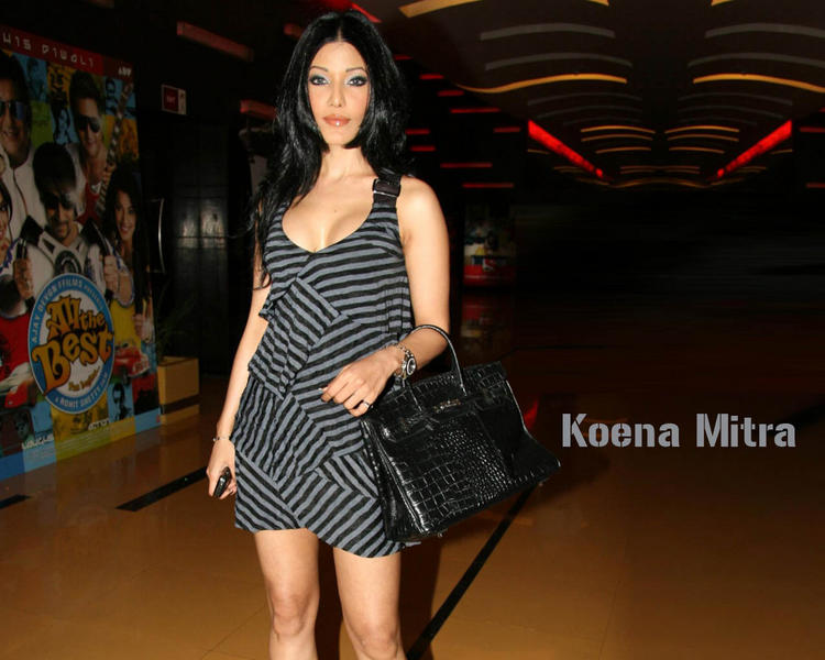 Koena Mitra Cute Short Dress Wallpaper