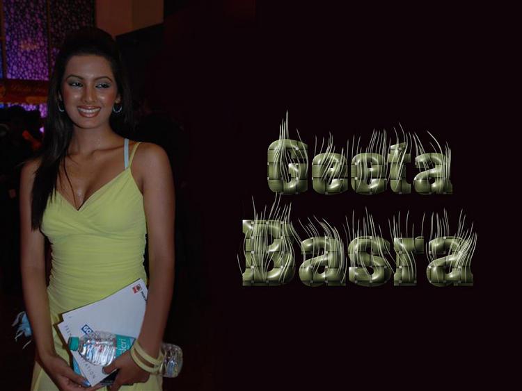 Geeta Basra Smily Face Wallpaper