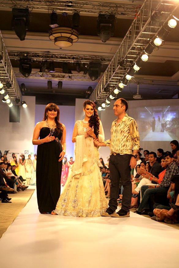 Hazel Keech Walks The Ramp For Arjun and Anjalee