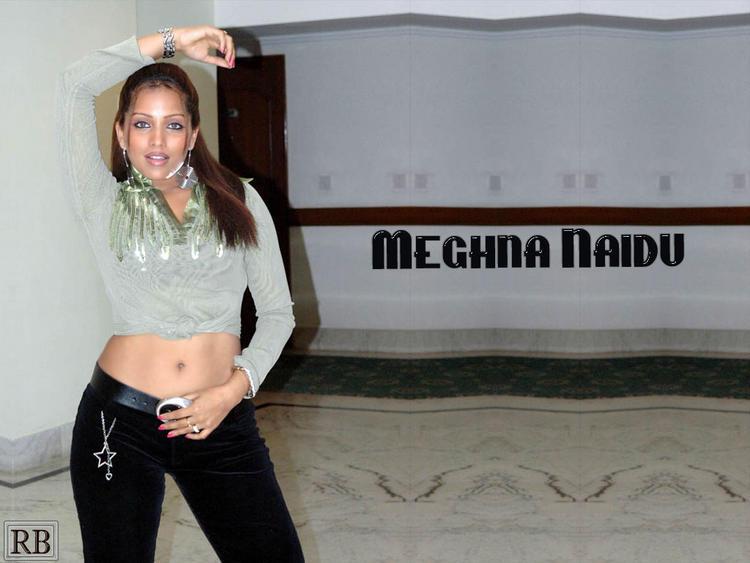 Meghna Naidu Spicy Navel Pose Wallpaper
