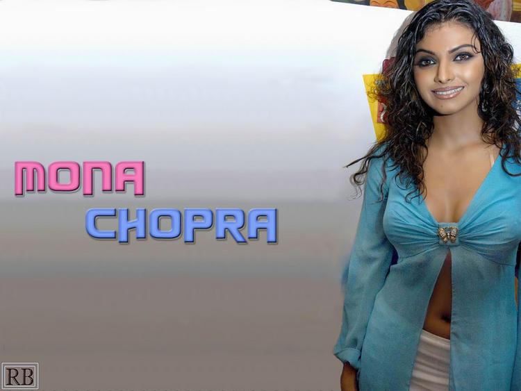 Mona Chopra Hot Navel Pose Wallpaper