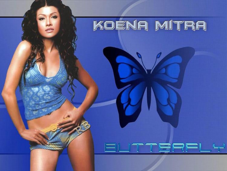 Koena Mitra Curly Hair Glamour Wallpaper