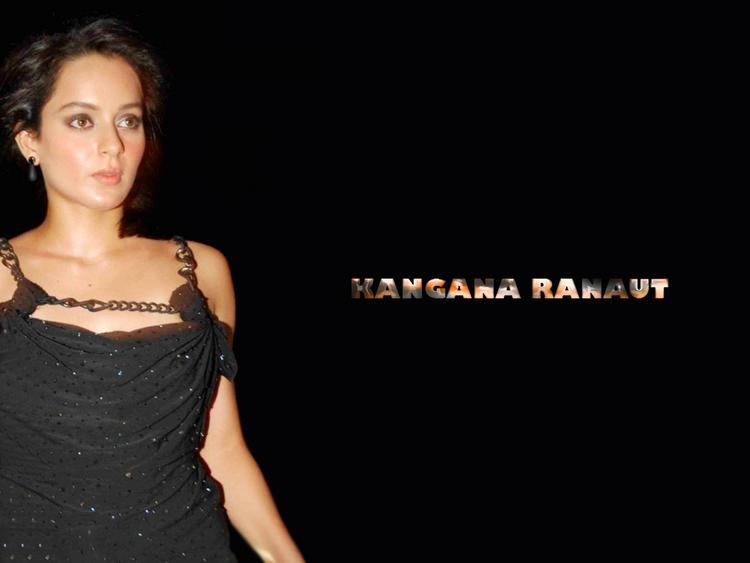 Kangana Ranaut Black Dress Hot Wallpaper