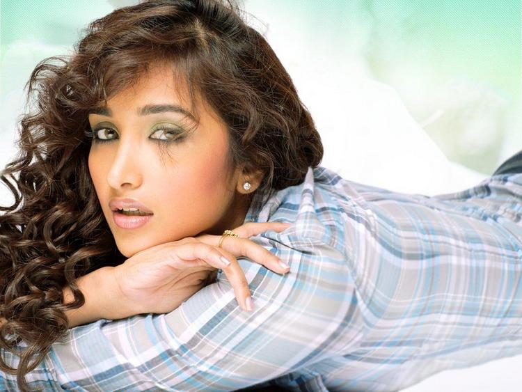 Jiah Khan In Curly Hair Sexy Face Still