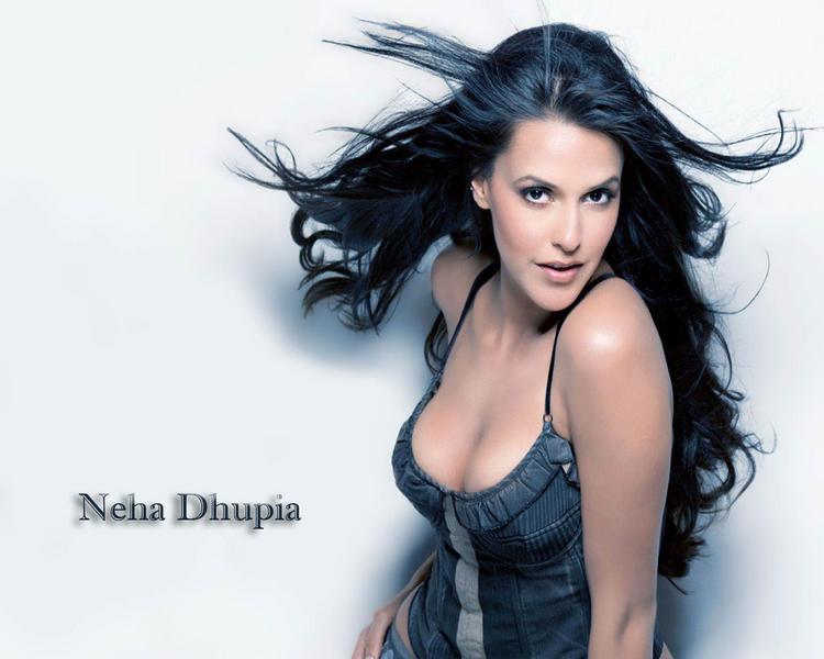 Neha Dhupia Open Boob Wallpaper
