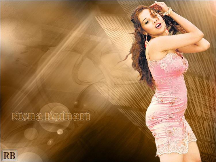 Nisha Kothari Showing Her Sexy Things