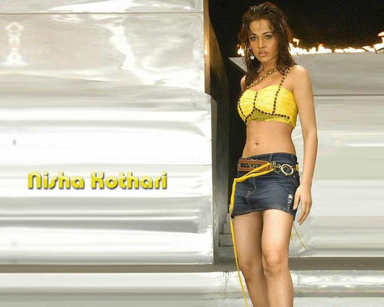 Nisha Kothari Slim Figure Show In Mini Skirt