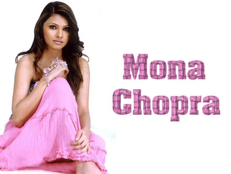 Mona Chopra Nice Look Wallpaper In Pink Dress