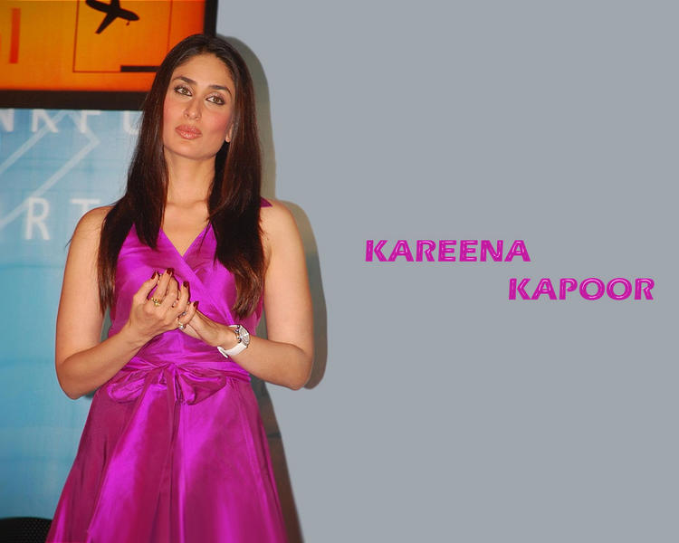 Kareena Kapoor Magenta Color Dress Wallpaper