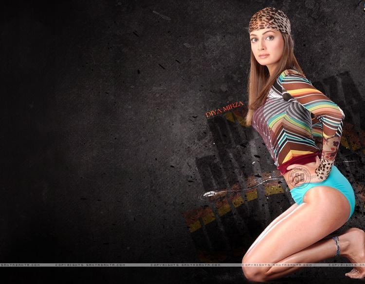 Diya Mirza Milky Legs Pose Wallpaper