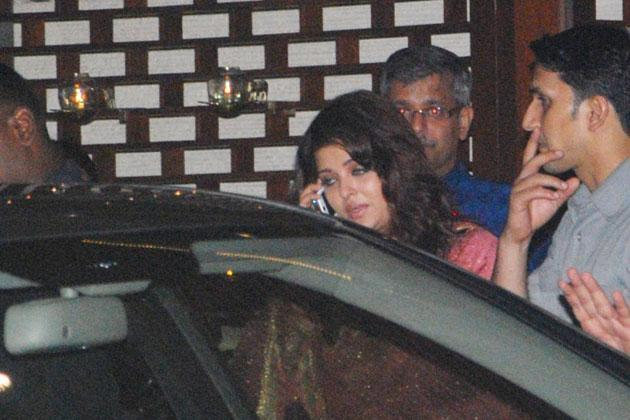 Aishwarya Rai Bachchan Spotted at Mukesh Ambani Party