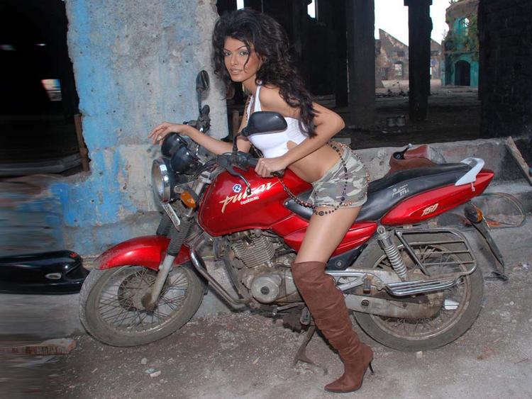 Mona Chopra Shocking Still On Bike