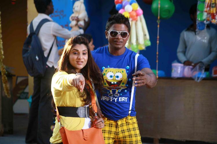 Ramya and Vijay A Still From Johny Mera Naam