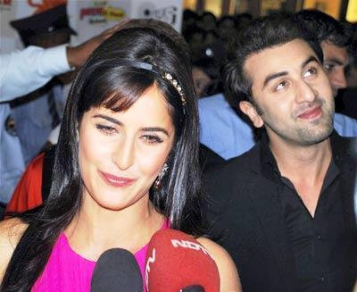 Ranbir Kapoor and Katrina Cute Lips Pic
