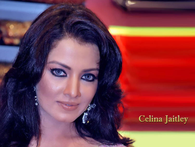 Cat Eyes Beauty Celina Jaitley Hot Wallpaper