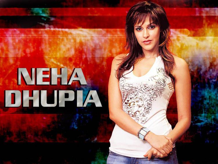 Neha Dhupia Attactive Hot Face Look Wallpaper