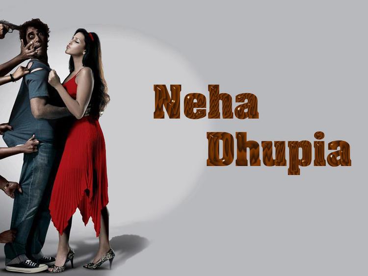 Neha Dhupia Red Dress Hottest Wallpaper
