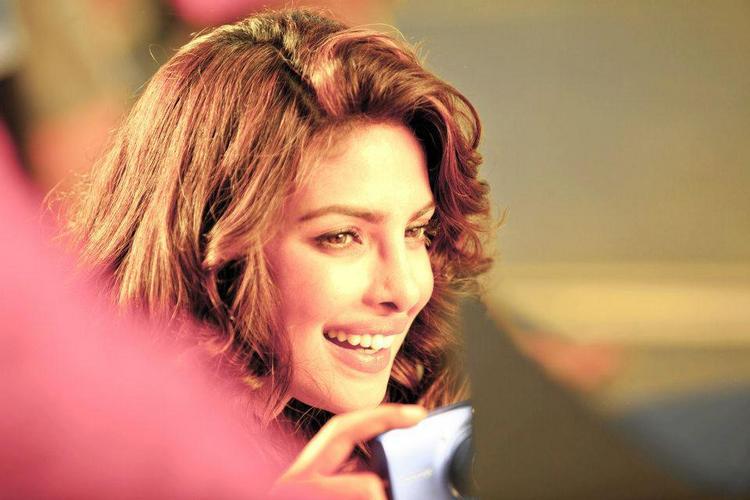 Priyanka Chopra Gorgeous Smile Pic On The Sets Of Nikon TVC Shoot