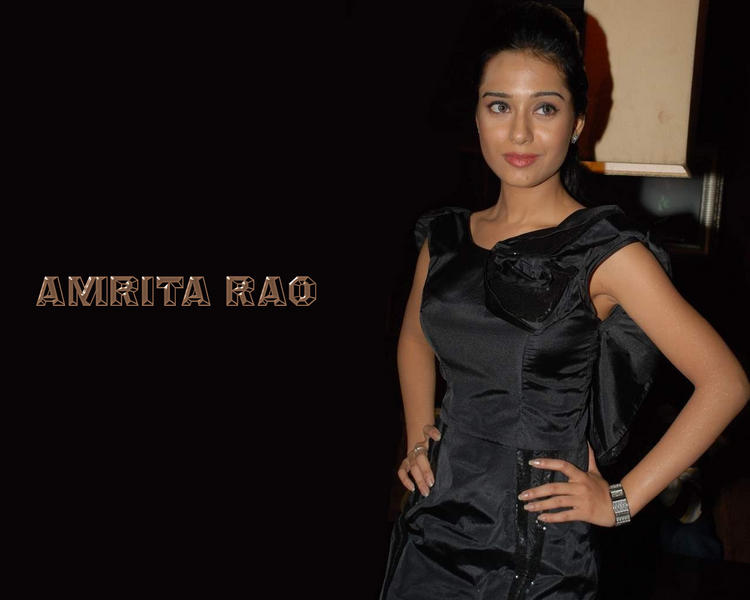 Amrita Rao Black Dress Glamour Wallpaper