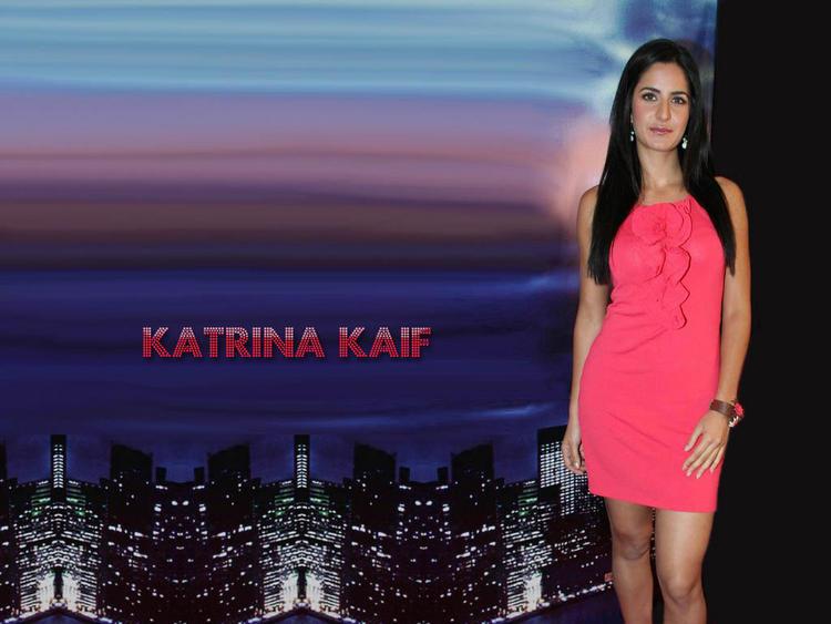 Katrina Kaif Pink Dress Hot Wallpaper